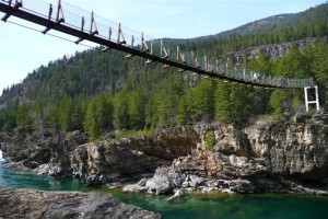 Kootenai swinging bridge